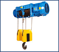 Foot Mount Wire Rope Hoist